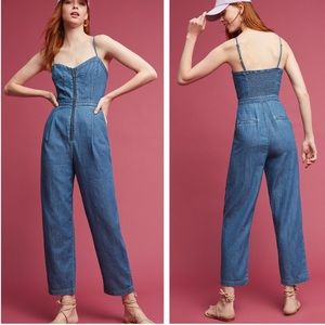 Anthropologie Pilcro Denim Zipper Jumpsuit 8 NEW
